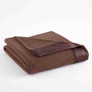 Chocolate King Micro Flannel Lightweight All Seasons Sheet Blanket