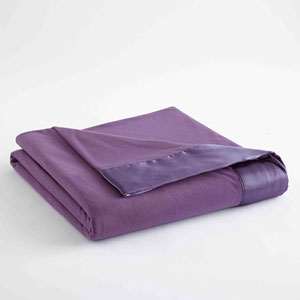 Plum King Micro Flannel Lightweight All Seasons Sheet Blanket
