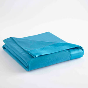 Teal King Micro Flannel Lightweight All Seasons Sheet Blanket