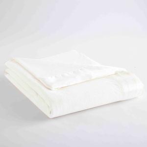 White Twin Micro Flannel Lightweight All Seasons Sheet Blanket
