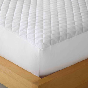 White Cal King Micro Flannel Heat Reflecting Mattress Pad