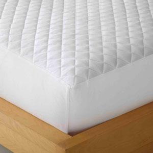 White Full Micro Flannel Heat Reflecting Mattress Pad