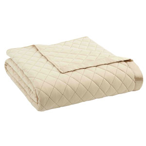 Chino Full/Queen Micro Flannel Quilted Blanket