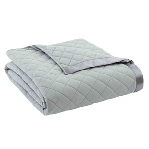 Greystone Twin Micro Flannel Quilted Blanket