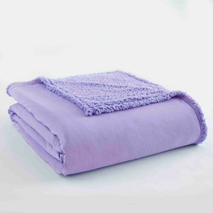 Amethyst Full/Queen Micro Flannel Sherpa Blanket