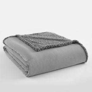 Greystone Full/Queen Micro Flannel Sherpa Blanket