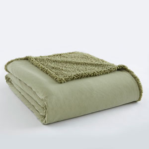 Meadow Full/Queen Micro Flannel Sherpa Blanket