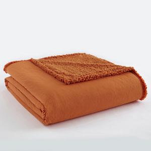 Spice Full/Queen Micro Flannel Sherpa Blanket