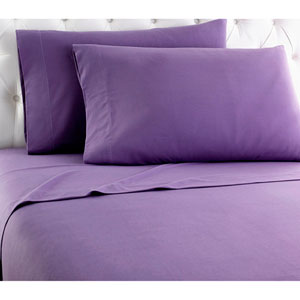 Plum Cal King Micro Flannel Sheet, Set of 4