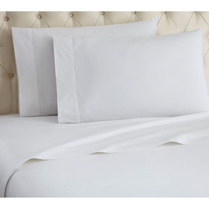 White Cal King Micro Flannel Sheet, Set of 4