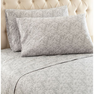 Enchantment Gray King Micro Flannel Sheet, Set of 4
