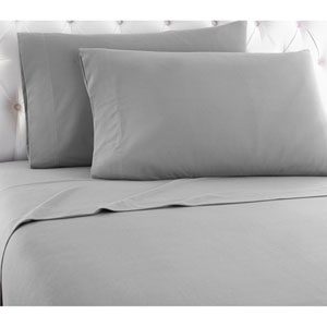 Greystone King Micro Flannel Sheet, Set of 4