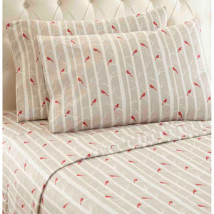 Cardinals Twin Micro Flannel Sheet, Set of 3