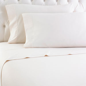 Ivory Twin XL Micro Flannel Sheet, Set of 3