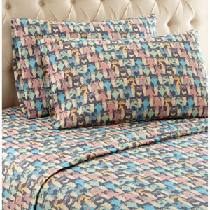 Kool Kats Twin XL Micro Flannel Sheet, Set of 3