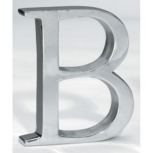 Kindwer Silver Aluminum Letter B