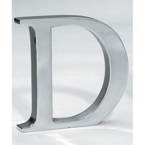 Kindwer Silver Aluminum Letter D