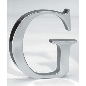 Kindwer Silver Aluminum Letter G