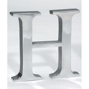 Kindwer Silver Aluminum Letter H