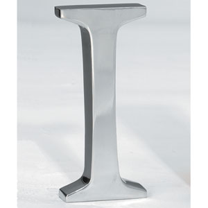 Kindwer Silver Aluminum Letter I