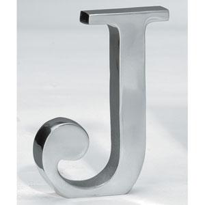 Kindwer Silver Aluminum Letter J