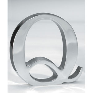 Kindwer Silver Aluminum Letter Q