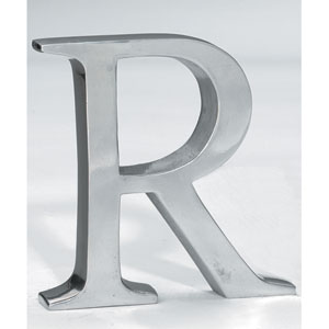 Kindwer Silver Aluminum Letter R