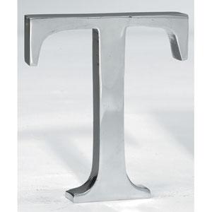 Kindwer Silver Aluminum Letter T