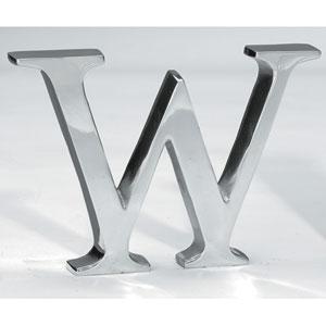 Kindwer Silver Aluminum Letter W