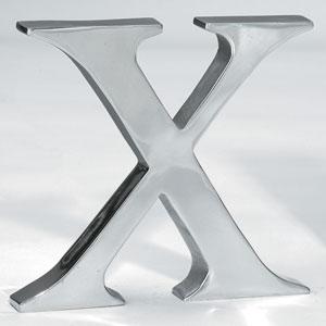 Kindwer Silver Aluminum Letter X