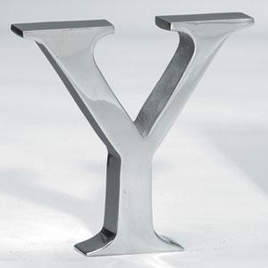 Kindwer Silver Aluminum Letter Y