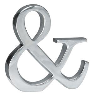 Kindwer Silver Aluminum Ampersand Symbol