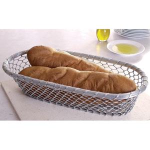 Kindwer Silver Chain-Link Metal Bread Basket