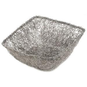 Kindwer Silver Twist Wire Mesh Basket