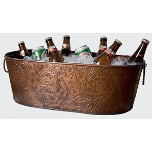Kindwer Copper Leaf Obong Tub 21x12