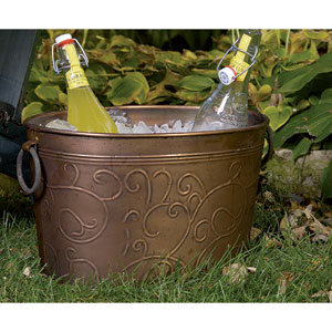 Kindwer Copper Vine Oval Tub