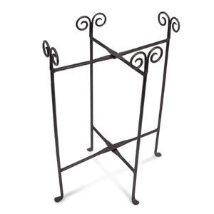 Kindwer Black Iron Oval Tub Floor Stand