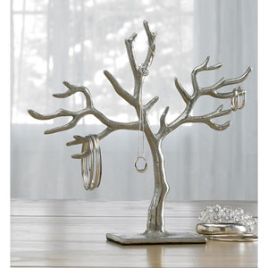 Kindwer Silver 20 Branch Casted Tree of Life Jewelry Holder