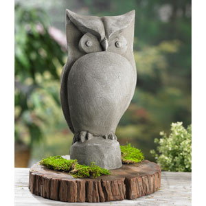 Kindwer Grey Garden Owl Statue