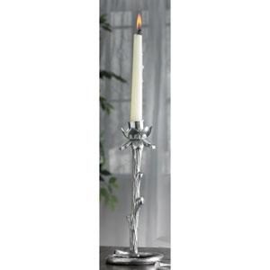 Kindwer Silver Flowering Aluminum Candle Holder