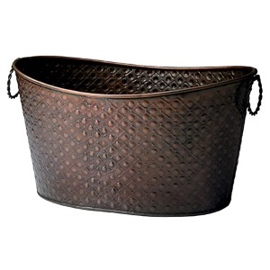 Kindwer Copper Relief Oval Beverage Tub
