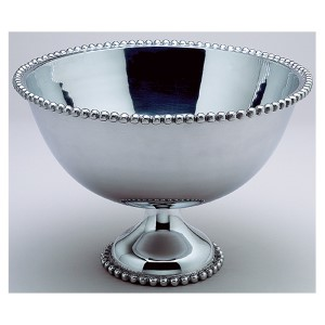 Kindwer Silver Beaded Punch Bowl