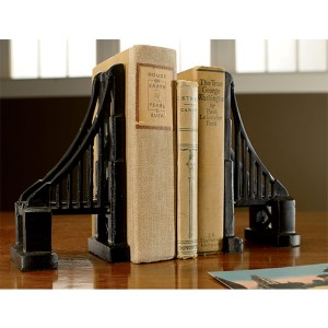 Kindwer Black Bridge Bookends, Set of 2
