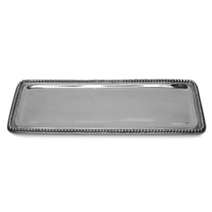 Kindwer Silver Beaded Rectangle Tray