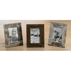 Kindwer Brown Distressed Wood 4 x 6-Inch Frames