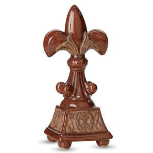 13-Inch Fleur de Lis Table Statue