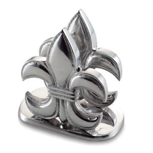 Kindwer Silver Fleur de Lis Napkin Holder