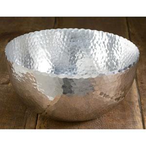 Kindwer Silver Hammered Aluminum Petal Bowl