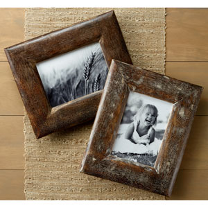 Kindwer Brown Rustic Wood 5 x 7-Inch Frames, Set of Two