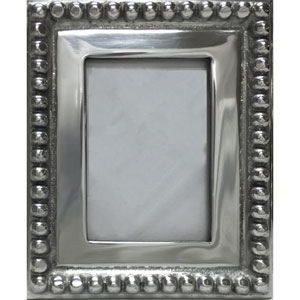 Kindwer Silver Imperial Beaded 5 x 7-Inch Photo Frame